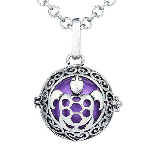 Bonnie Turtle Tortoise Music Chime Locket Angel Caller Ball Pendant Charm Necklace for Women ()