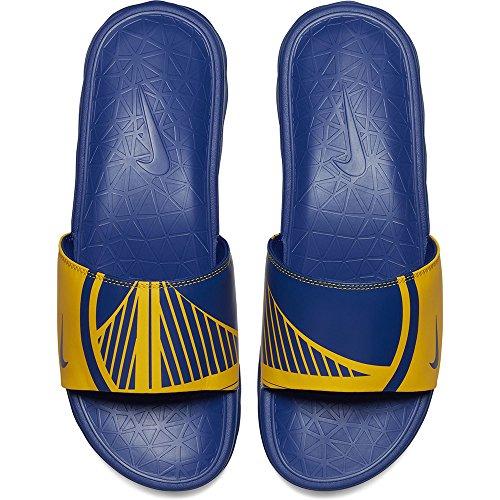 Nike Mens Benassi Solarsoft Nba, Amarillo / Rush Blue Amarillo / Rush Blue