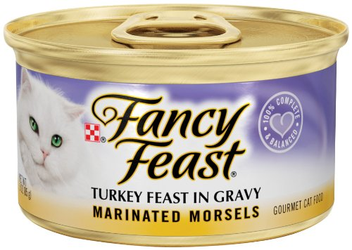 Purina Fancy Feast Marinated Morsels Turkey Feast in Gravy Cat Food - (24) 3 oz. Pull-top Can