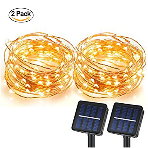 100 White Solar Led String Lights - 7