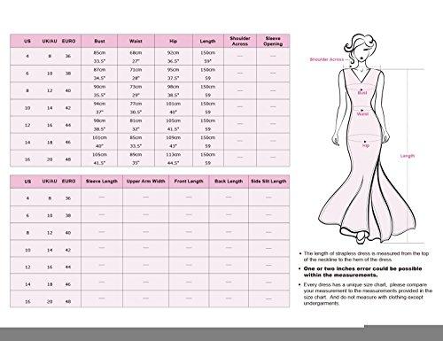 Ever Pretty - Vestido - plisado - para mujer granate