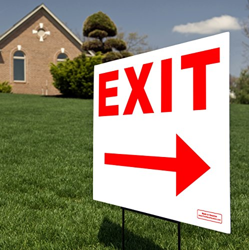 Exit Right & Left Arrow Red 24