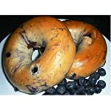 Burry Foodservice Thaw and Sell Sliced Blueberry Bagel, 4 Ounce - 36 per case.