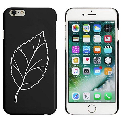 Noir 'Jolie Feuille' étui / housse pour iPhone 6 & 6s (MC00053949)