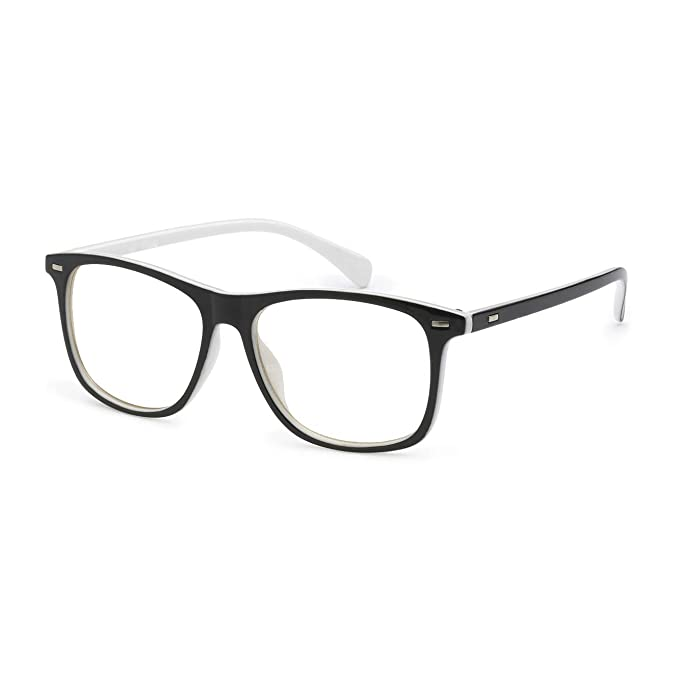 ef2daf0c46074 Amazon.com: VINTAGE Trendy Retro Frame Rx-able Clear Lens Eye ...