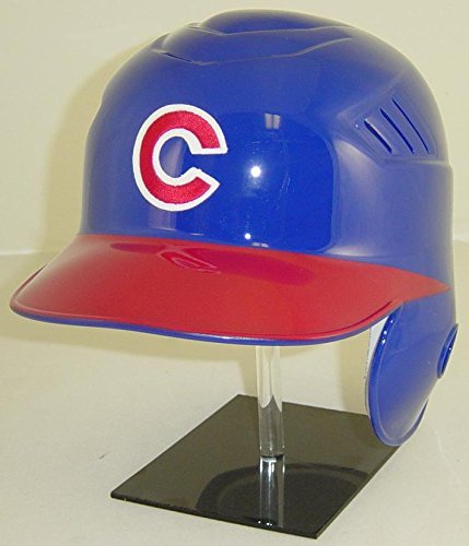 Chicago Cubs MLB New Coolflo Style Official Authentic Batting Helmet (Road Helmet with Red Bill, Left Flap for Right Handed Batter)