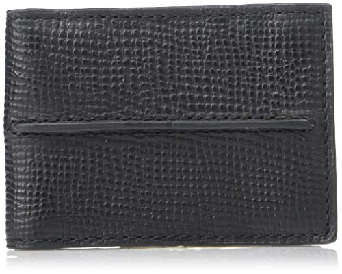 (Relic by Fossil Men's Leather Bifold Front Pocket Wallet, Cash Black, 4