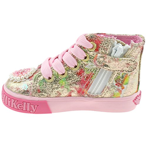 Lelli Kelly LK4032 (BX02) Multi Fantasy Candy Mid Baseball Boots -19 (UK 3)