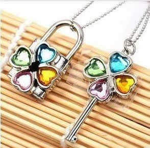 Shugo Chara Lock and Key Necklace,4 Color ,Lock can be opened.