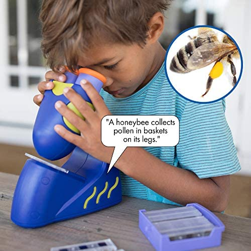 Educational Insights GeoSafari Jr. Talking Microscope, Featuring Bindi Irwin, Microscope For Kids, STEM & Science Toy, Interactive Learning, Ages 4+