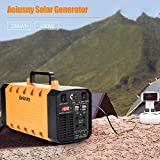 Aeiusny Portable Generator, 288Wh 500W Solar Generator, Portable Power Station CPAP Emergency Backup Battery Camping Power Supply Charged Solar Panel/AC 110V Port/DC 12V Car