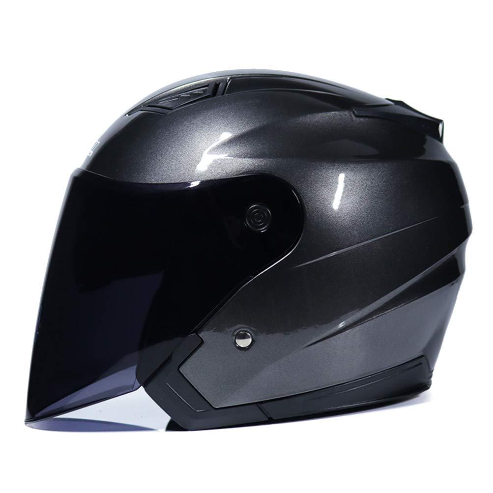 Motorcycle Helmets Electric Bicycle Helmet Open Face Dual Lens Visors Men Women Scooter Motorbike Moto Bike Helmet
