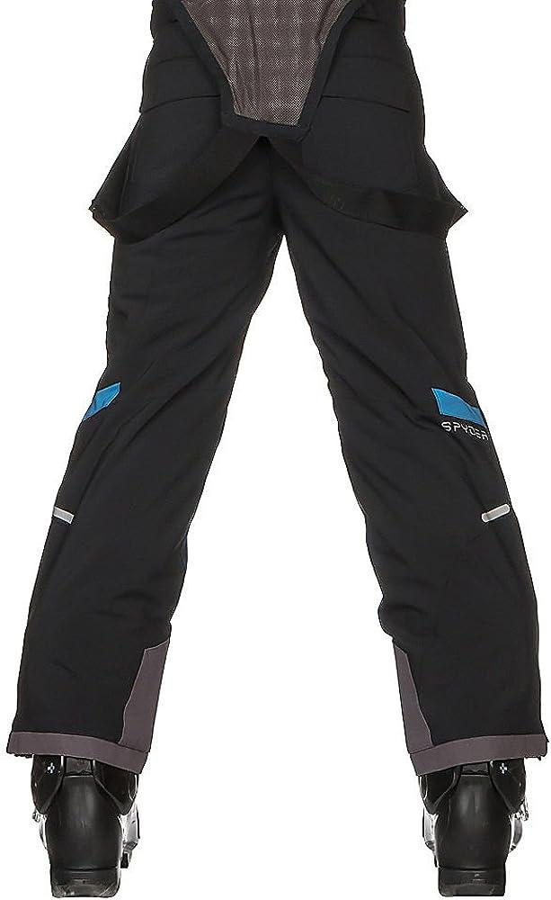 Spyder Kids Boys Force Pants Black//French Blue 8 Big Kids Big Kids