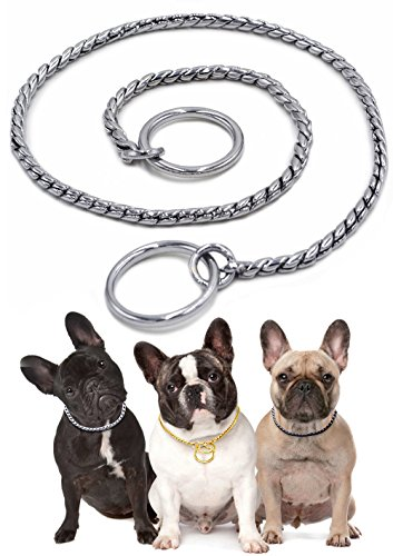 Dog Choke Collar Snake P Chain - Adjustable Heavy Duty Pure Copper Choke P Snake Chain Collars - Training Slip Collar Best for Small Medium Large Breeds