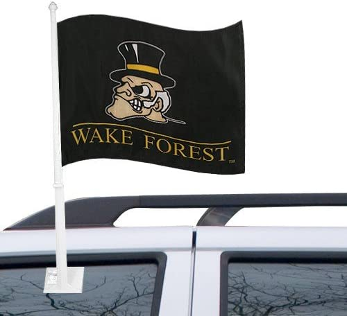 Multicolor NCAA Wake Forest Car Flag One Size