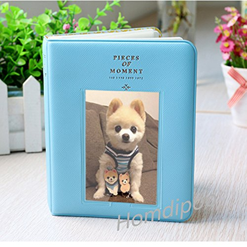 Homdipoo 64 Pockets Photo Album for Mini Fujifilm Instax Polaroid & Name Card (Blue)