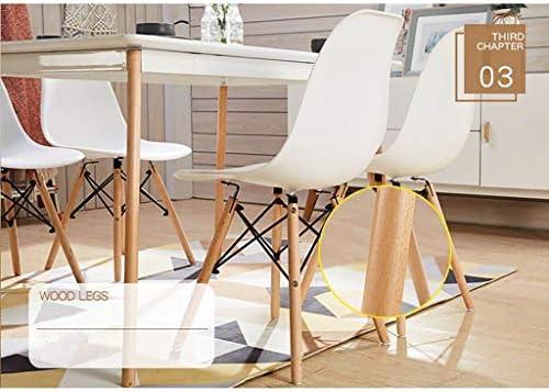 GWW Chaise Chaise de Loisirs, Chaise JF/Chaise rétro/Chaise de Salle à Manger Chaise Longue/Bois Massif et PP Matériau 50cm40cm82cm Multicolore && (Couleur: F)