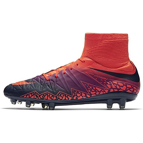 Nike 747214-845, Scarpe da Calcio Uomo Arancione (Total Crimson / Obsidian-vivid Purple)