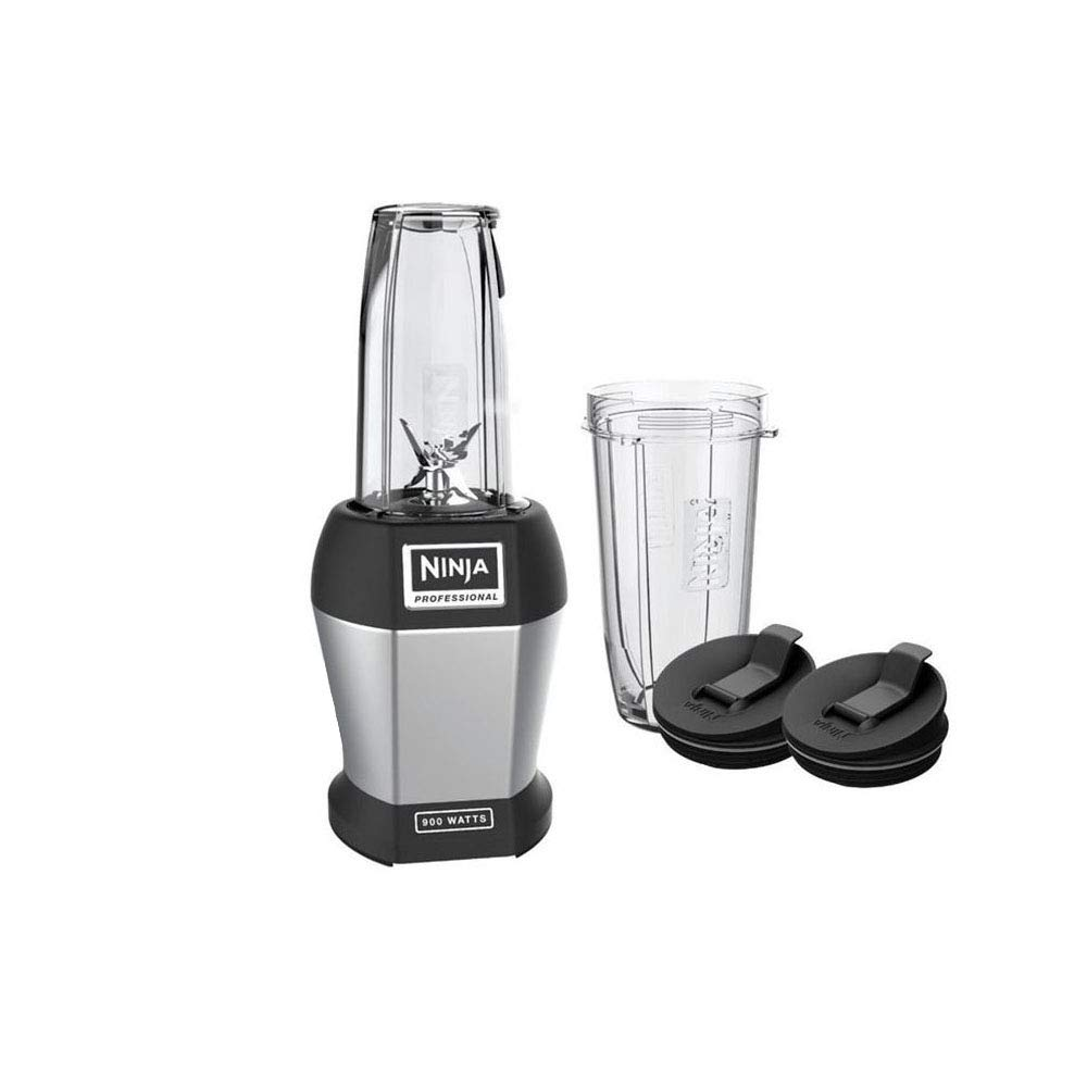 Red Nutri Ninja Pro Personal Blender with 900-Watt Base and Vitamin//Nutrient Extraction for Shakes and Smoothies with 18 and 24-Ounce Cups BL456R