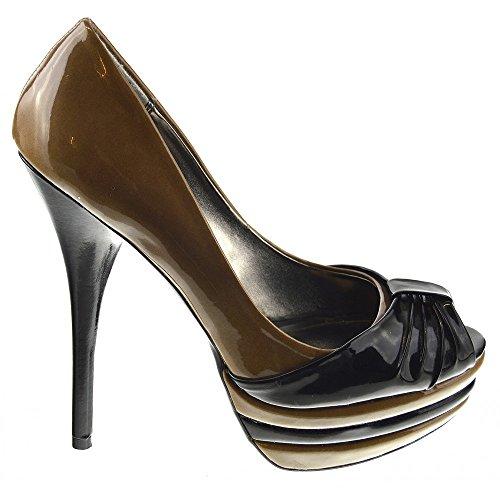 Heel High Black Nude Stiletto Kick Platform Footwear Fashion Womens Shoes avOwt6