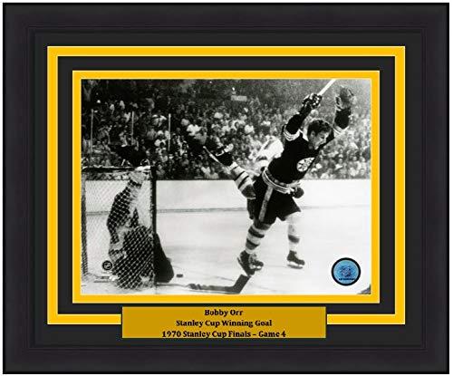 (Bobby Orr Boston Bruins 1970 Stanley Cup Game-Winning Goal & Leap 8