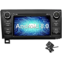 Ohok Android 8.0 Car Stereo Double Din for Toyota Tundra/Toyota Sequoia Head Unit 4G+32G with GPS and Wifi 8-Core DVD Player,Supports Bluetooth,Fastboot,MirrorLink, Aux,OBD2,DVR,7 inch Touchscreen