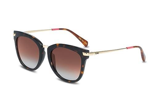 Amazon.com: Toms anteojos de sol Adeline tortuga de oro ...