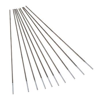 Homyl 10 Unids Electrodos de Tungsteno Puro Tig Argon Soldadura Varilla Circonio Instalación Eléctrica - Plata, Tipo 2: Amazon.es: Bricolaje y herramientas