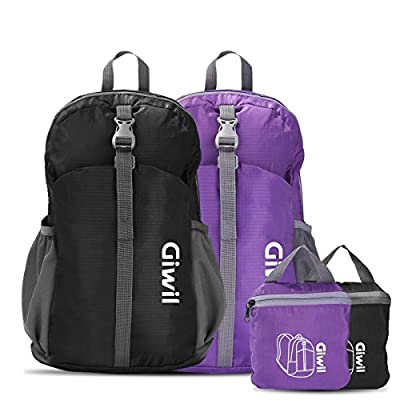 Lightweight Packable Durable Travel Hiking Backpack Daypack, Giwil 20L/30L Foldable Camping Backpack for Men Women and Teens