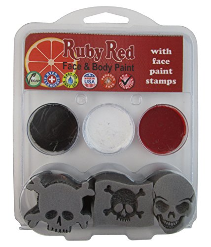 Ruby Red Paint Face Paint, 2ML X 3 Colors - Pirate Stamp Palette]()