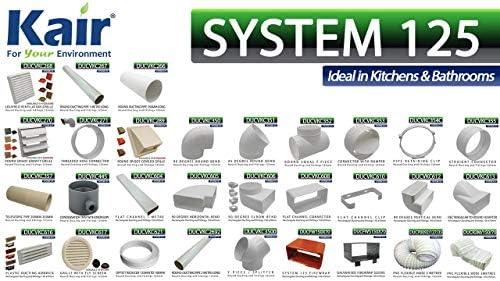 aria di scarico tubo 125er TONDO System 5m bianco tra l/'altro per cappa aspirante 3,33 €//m