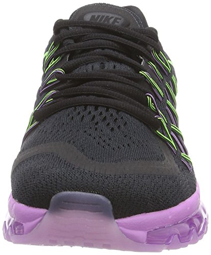 Nike Air Max 2015 - Zapatillas Mujer Negro (black/flash lime-white-fuchsia glow)
