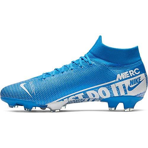 Nike Phantom Vision Academy Dynamic Fit MG Soccer Cleats (M10.0/W11.5, Blue/White-M)