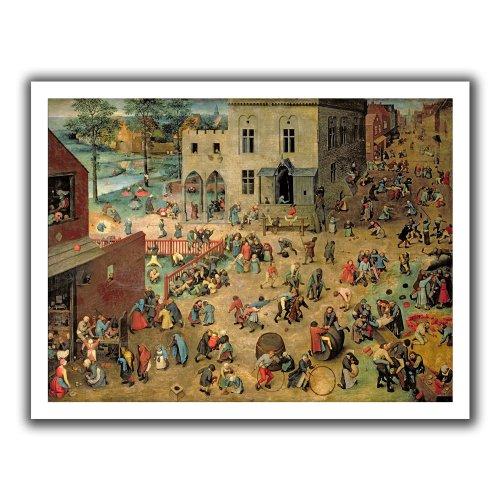 Elder Pieter Childrens Games - ArtWall Pieter Bruegel 'Children's Games' Unwrapped Canvas Art, 18 by 22-Inch