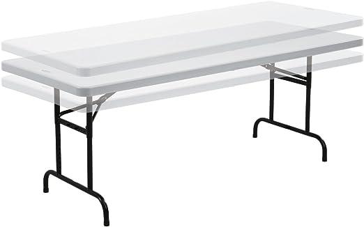 6 Foot Height Adjustable Folding Trestle Table Amazon Co Uk Garden Outdoors