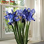 Roossys-3Pcs-Blue-Iris-Artificial-Flowers-Home-Decoration-Party-Supplies-Bouquet-Real-Touch-Flowers-Home-Wedding-Decorative-Flowers-Wedding-Decoration-Weddings-Artificial-Decorations-Real-Touch