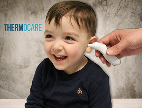 Best Digital Ear Thermometer - Instant Read Display with Medical Infrared Scanner - Electronic Reading - Great for Baby Infant and Kids - Reads Temperature Immediately to Detect Fever - Similar to Braun