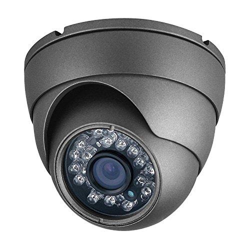 Analog Cameras Surveillance (Analog CCTV Camera HD 1080P 4-in-1 (TVI/AHD/CVI/960H Analog) Security Dome Camera Outdoor Metal Housing, 24 IR-LEDs True Day & Night Monitoring 3.6mm Lens (Black))