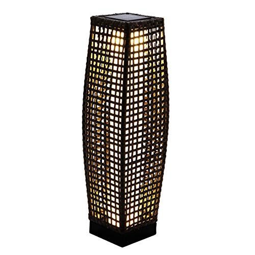 Outdoor Rattan Floor Lamp in US - 1