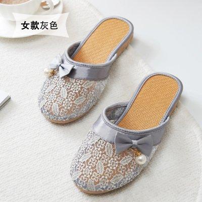 traspirante pizzo estate Pantofole tenere e da da grigio casa interno B mollette da in donna 38 fankou in confortevole YBqRY