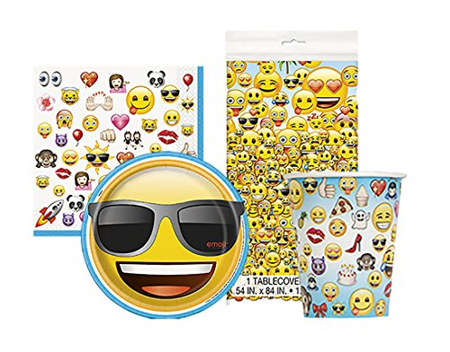 Emoji Movie Party Tableware Pack For 16
