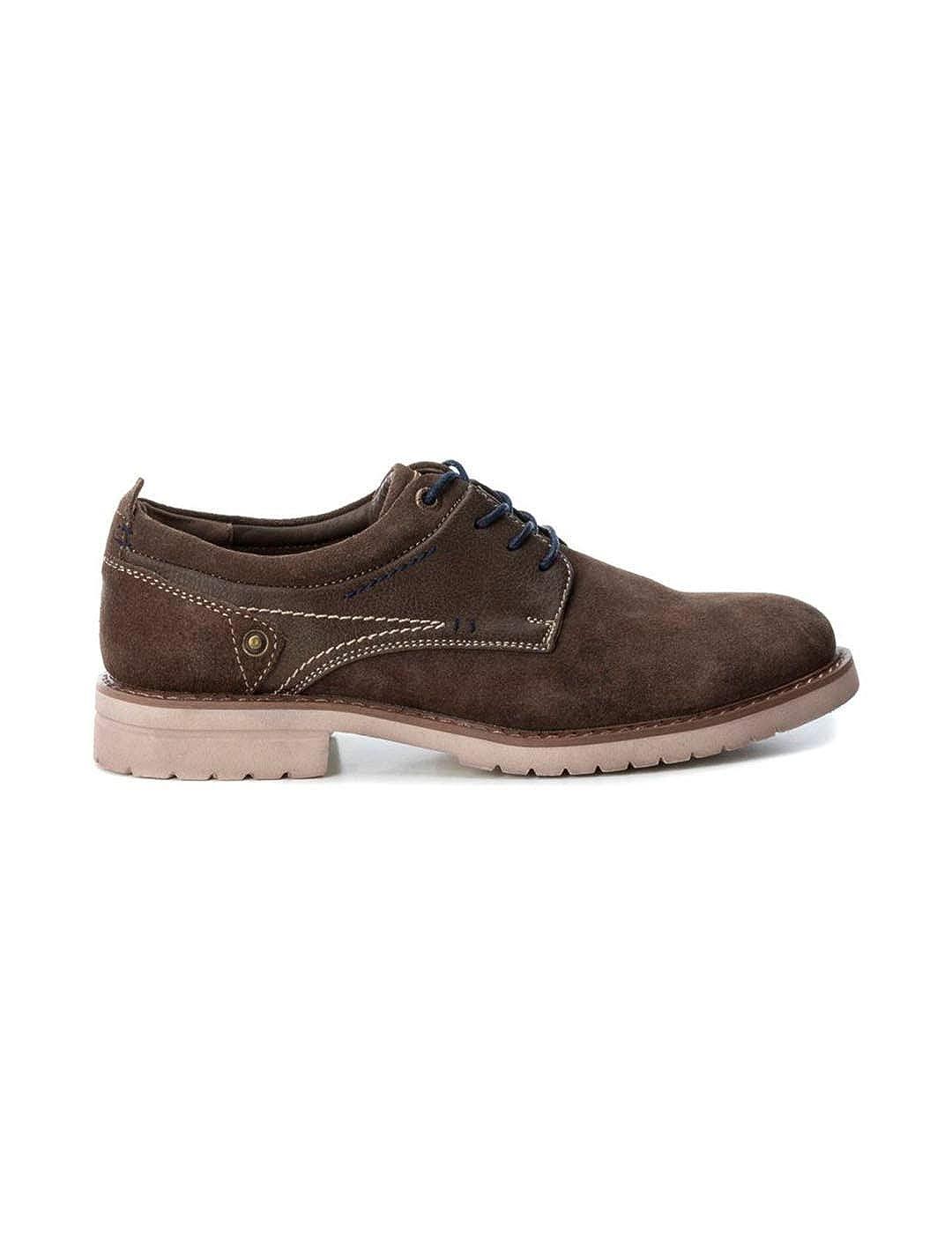 Zapato XTI Hombre Serraje Taupe Cordón 48169: Amazon.es: Zapatos y complementos