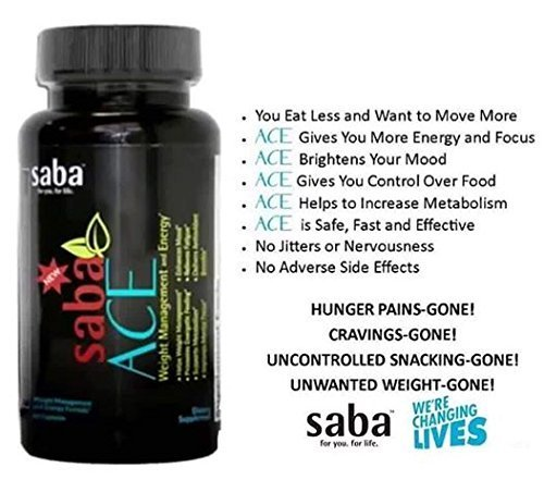 New Saba ACE 30 Count Bottle - No DMAA