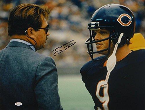 (Mike Ditka Autographed *Blk Chicago Bears 16x20 W/Jim McMahon Photo- W Auth - JSA Certified - Autographed NFL Photos)