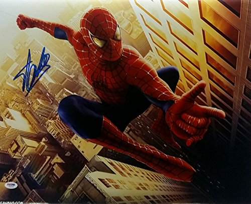 Stan Lee Signed Spider Man 16x20 Metallic Photo PSA/DNA Auto X82138