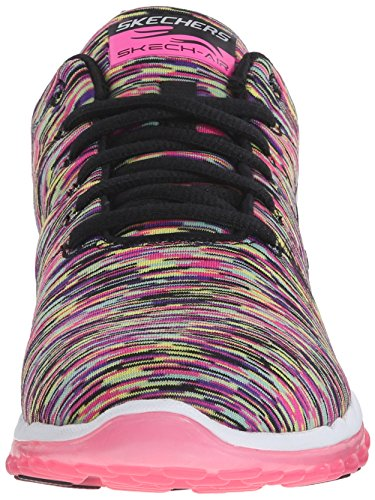 Skechers Sport Damen Skech Air Run High Fashion Sneaker Schwarzes Pink