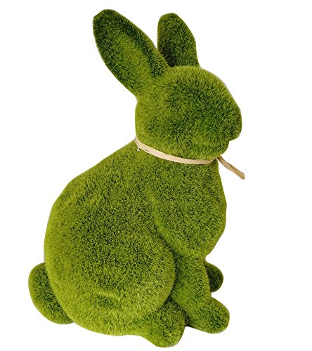 Garden Animal Statue - Resin Rabbit Figurine For Home Office Backyard Garden Yard Ornament Decor, 11 Inch (Resin Garden Sculptures)