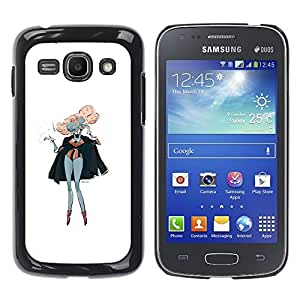 Paccase / SLIM PC / Aliminium Casa Carcasa Funda Case Cover - Pink Hair Siamese Twins Art Painting Outfit - Samsung Galaxy Ace 3 GT-S7270 GT-S7275 GT-S7272