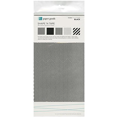 We R Memory Keepers Shape N' Tape Sheet, Black