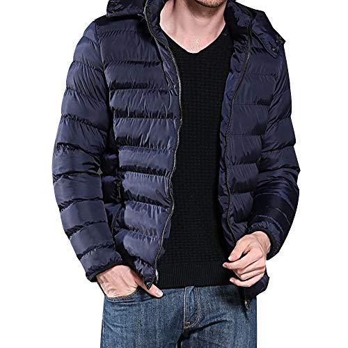 (iHPH7 Men Boys Casual Warm Hooded Winter Zipper Coat Outwear Jacket Top)